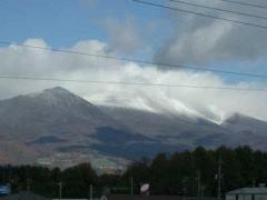浅間山が凍ってます